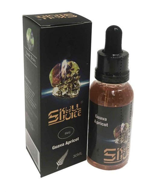 Skull Juice regular 30ml bottle: Apricot with a fine blend of Guava