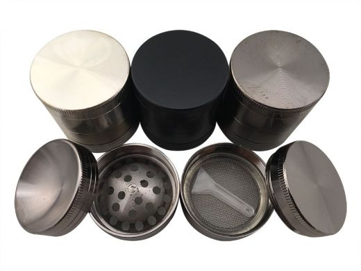 Four Level Coloured Small Aluminium Grinder Curved Top : 40mm